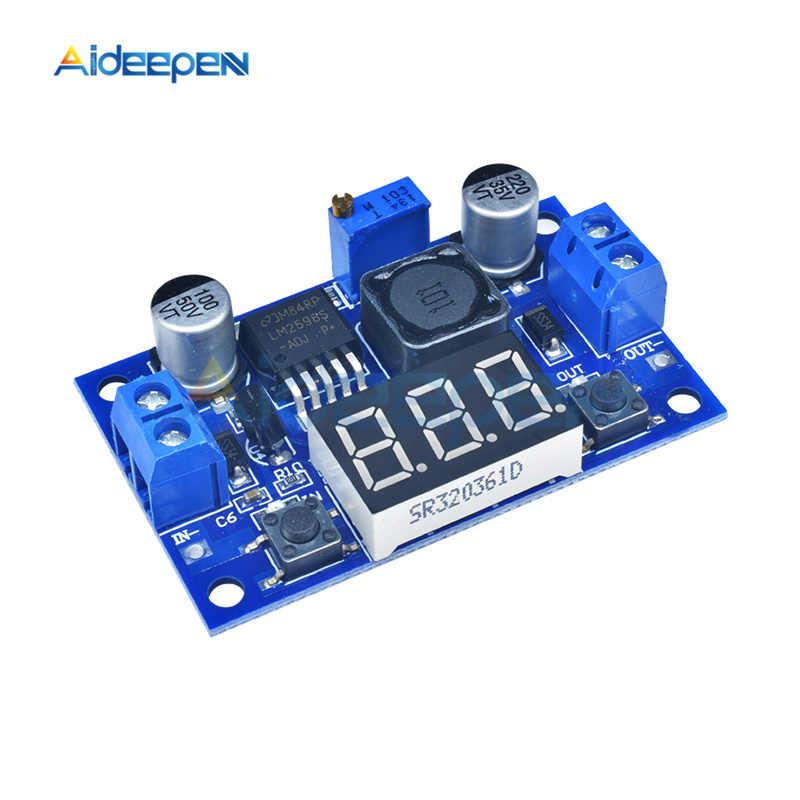 LM2596 Buck Step-down Power Converter Module 4.2-40V to 1.25-37V LED Voltmeter