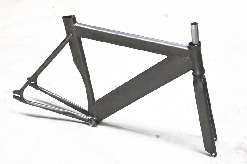 bicycle fixiefixed gear frame and fork bike aluminum alloy 6061 frameset track bike frameset