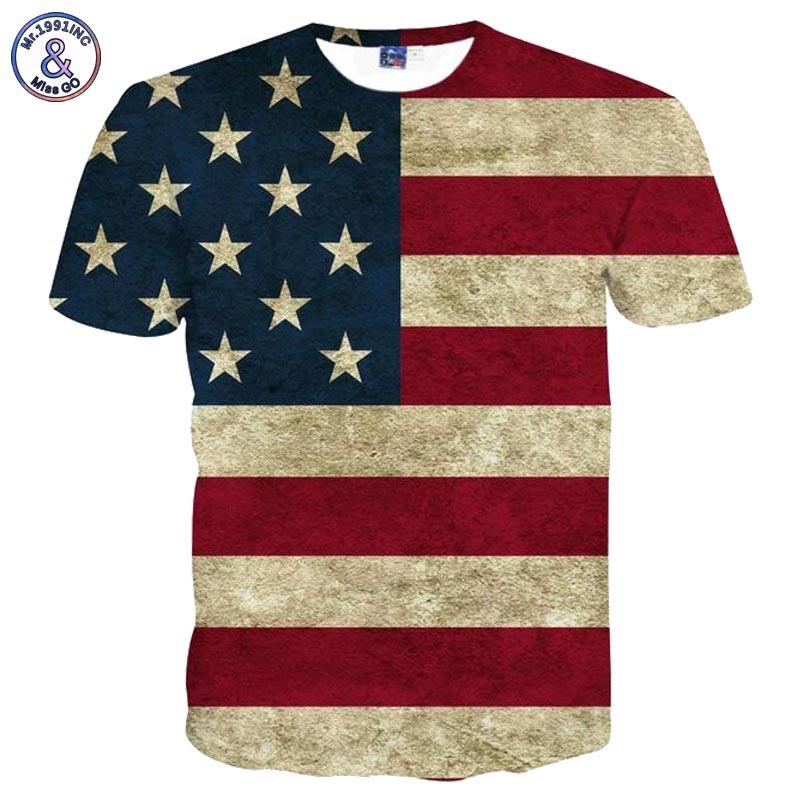 Mr.1991INC USA Drapeau T-shirt Hommes/Femmes Sexy 3d T-shirt Imprimer Rayé Drapeau américain Hommes T Shirt D'été Tops T-shirts Plus 3XL 4XL