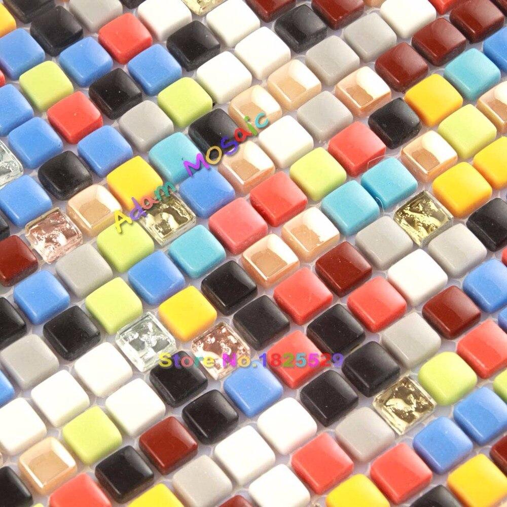 - Rainbow Color Tile Backsplash Kitchen Mirror Wall Multi Colour