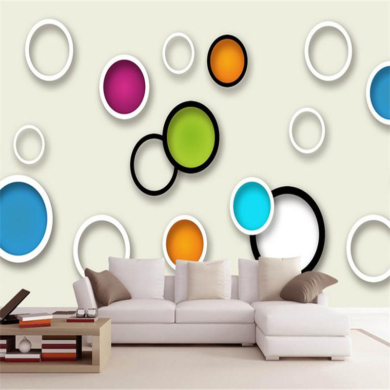 3d modern custom photo wallpaper large circle simplicity wall mural living room bedroom background wallpaper home decorating