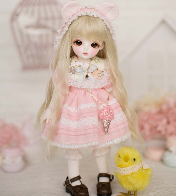 1/6 BJD Doll BJD/SD Cute Miu Joints Doll For Baby Girl Birthday Gift With Free Eyes Free Shipping   2