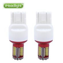 2pcs Super Bright T20 7443 580 W21/5W  57SMD LED Car Brake Light Turn Signal Led Bulb white lamp High power stop