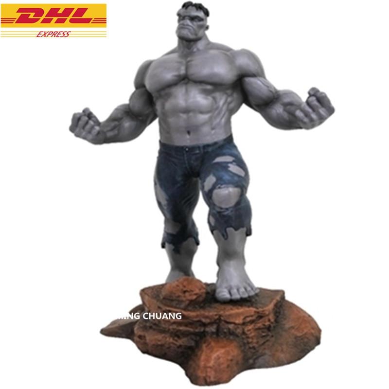 11Avengers Infinity War Statue Superhero Bust Hulk Full-Length Portrait Grey Giant Action Figure Collectible Model Toy BOX D780 statue justice league bust superhero batman and wonder woman full length portrait pvc action figure collectible model toy d297