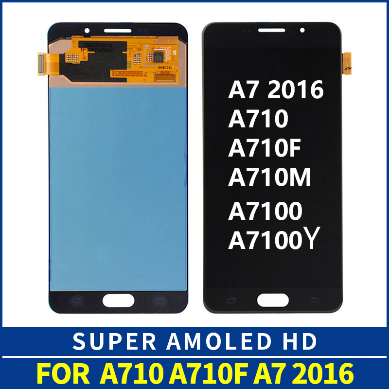 5.5 Super AMOLED For SAMSUNG GALAXY A7 2016 A710 LCD Display Touch Screen Digitizer Assembly Replacement For Samsung A710F LCD5.5 Super AMOLED For SAMSUNG GALAXY A7 2016 A710 LCD Display Touch Screen Digitizer Assembly Replacement For Samsung A710F LCD