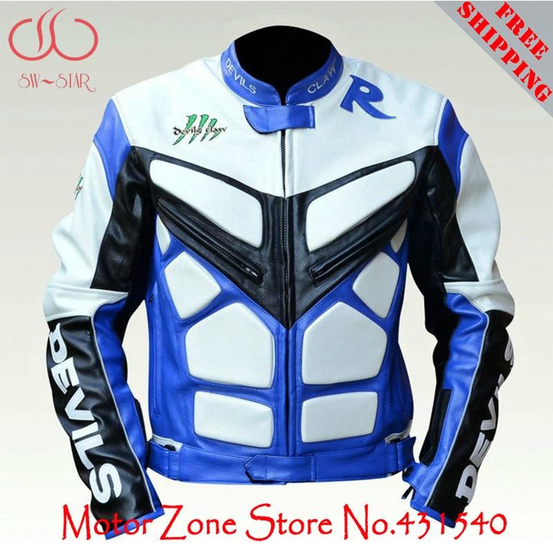 Здесь можно купить  Genuine Devils Claw motorcycle racing jacket vitual skin motorbike racing suit with protectors PU leather road ride jacket J3  Автомобили и Мотоциклы