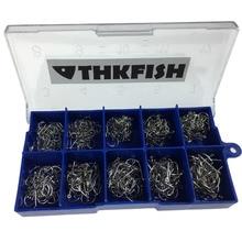 500 Pcs Silver White Freshwater Fishing Hooks Fishhooks Barbed Hooks For Fishing