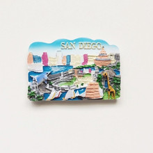 New Arrival Santiago de Chile Fridge Magnets World Travel Souvenirs 3D  Handmade Refrigerator Magnetic Magnet Wall 0940982e4