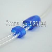 Free shipping 10pair 2.3mm Size blue colour Y Splitter Adapter Set Kit For DIY HiFi Earphone Headphone