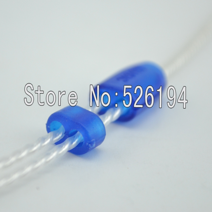 Free shipping one set 2.3mm Size blue colour Y Splitter Adapter Set Kit For DIY HiFi Earphone Headphone