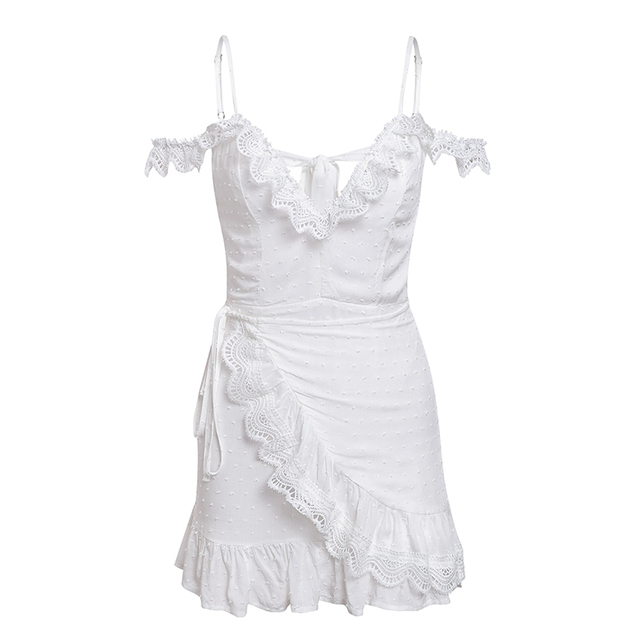 Bardot white summer mini dress