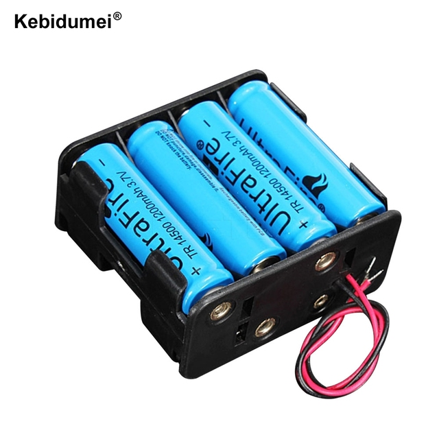 Perfect 8 X AA Battery Storage Case Plastic Box Holder With Cable Lead For Standard  AA 1.5