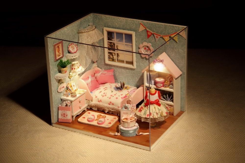 2018 New Style Birthday/valentine/hallowmas/christmas Gifts Diy 3d Miniature Model Kits Assemble Toys Creative Diary Dollhouse Architecture/diy House/mininatures