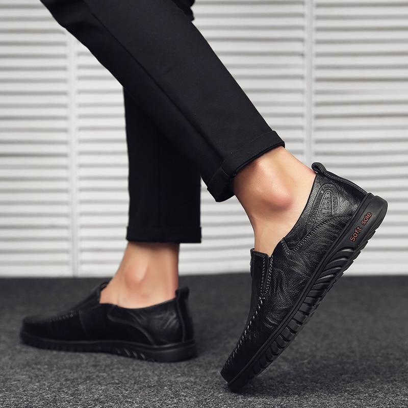 HTB1VgFVaJzvK1RkSnfoq6zMwVXaj Genuine Leather Men Casual Shoes Luxury Brand Designer Mens Loafers Moccasins Breathable Slip on Driving Shoes Plus Size 37-47
