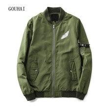 Bomber Jackets Men 2017 Spring Autumn Coat Man Print Short Slim Jacket Mens Brand Clothing Plus Size M-5XL Male Bomber Jacket