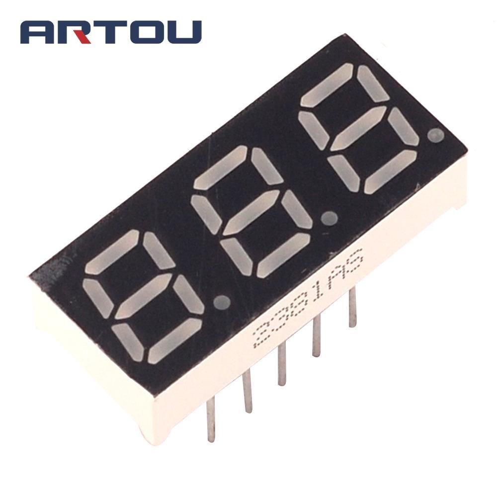 10PCS Common Cathode 3Bit Digital Tube 7 Segment 0.28