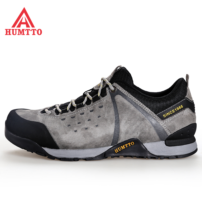 HUMTTO Mens Leather Outdoor Hiking Trekking Shoes Sneakers For Men Sport Climbing Mountain Tourism Travel Shoes Sneakers Man humtto men s summer sports outdoor trekking hiking sandals shoes for men sport climbing mountain shoes man sandals