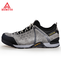 HUMTTO Mens Leather Outdoor Hiking Trekking Shoes Sneakers For Men Sport Climbing Mountain Tourism Travel Shoes Sneakers Man