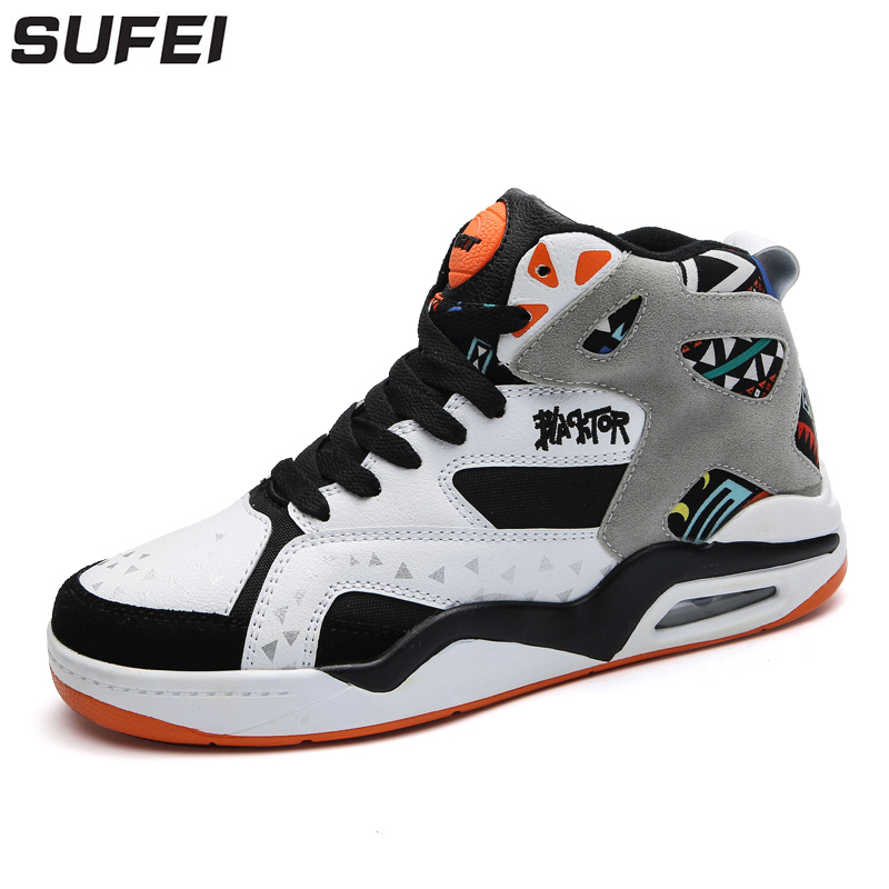 sufei Men Basketball Shoes Comfortable Men Shoes High Top Outdoor Trainers Professional Sport Shoes Zapatillas ai men basketball shoes pu sneakers mesh breathable sport shoes for men professional basketball shoes zapatillas de basquet