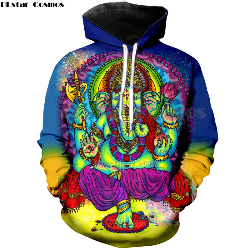 Hoodies Jacket Men Women 3d Printed Colorful Trippy Sweatshirt Top Fashion Clothes Hip Hop Printed Elephant Psychedelic Coat
