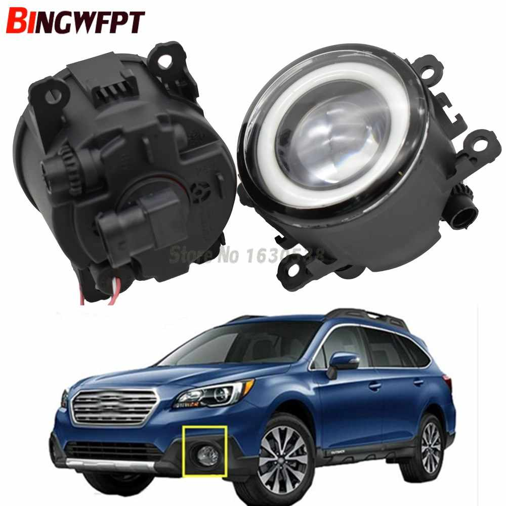 2x NEW Angel Eyes Car styling LED fog Lights For Subaru Outback 2010 2011 2012 For Subaru Forester 2013 2014 2015 2016 2017 2018