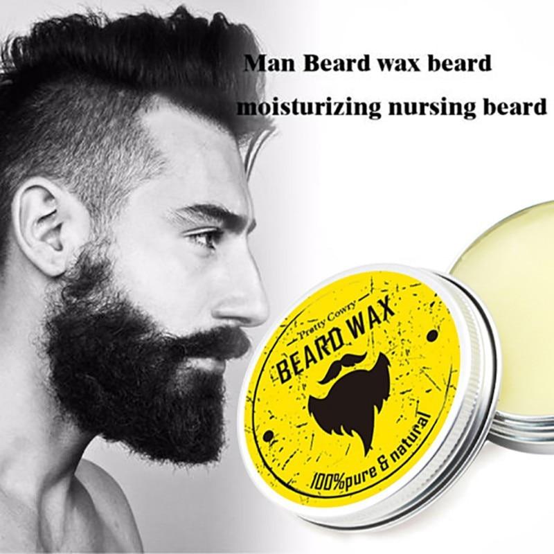 Men Beard Wax For Styling Beeswax Moisturizing Smoothing Gentlemen Beard Care Hair Loss Pr