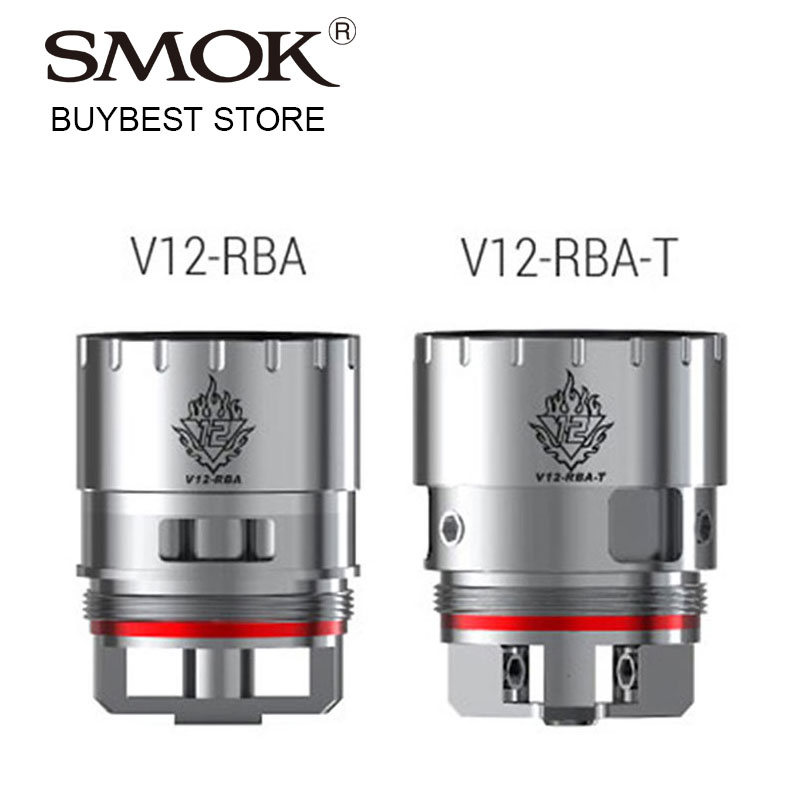Original SMOK TFV12 RBA Head for Smok TFV12 Tank Atomizer Type A V12-RBA Coil Dual Coils Deck/Type B V12-RBA-T Triple Coils Deck база tfv12