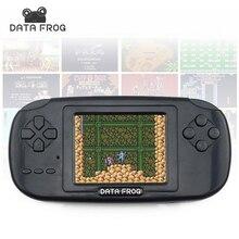 Данных лягушка Портативный игры игроки с 168 построен в играх 3 дюймов Экран игровой консоли 8bit Портативный игровых консолей