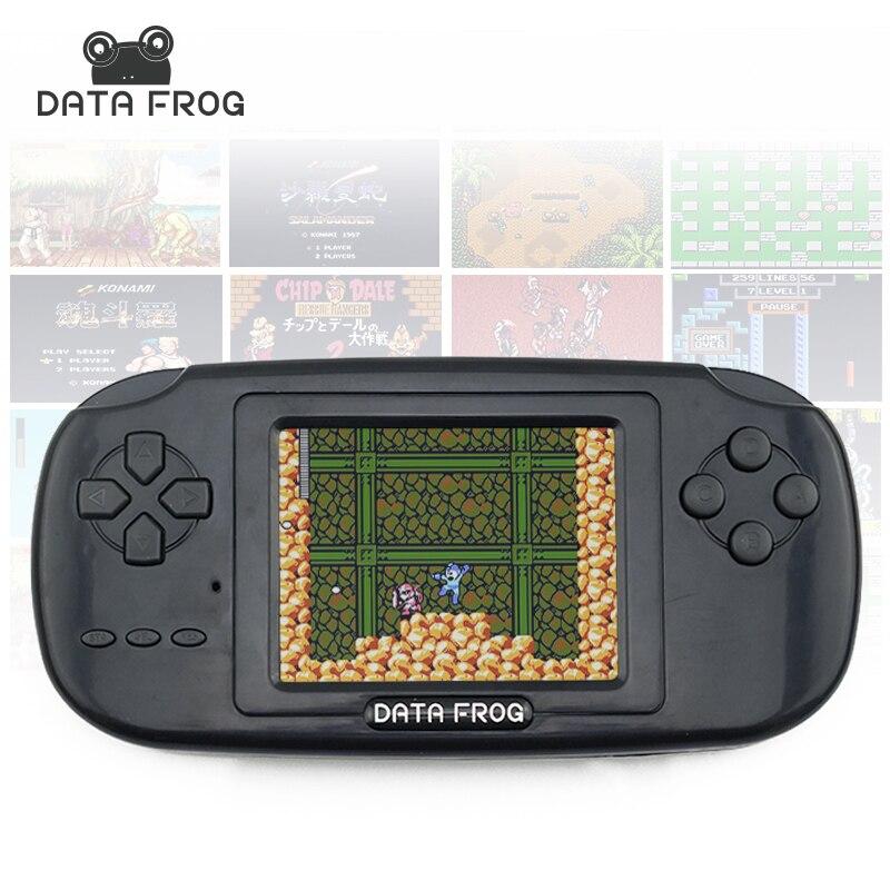 Daten Frosch Handheld-Spiel-Spieler mit 168 Gebaut in Spiele 3 zoll Bildschirm Spielkonsole 8bit Tragbaren Spielkonsolen