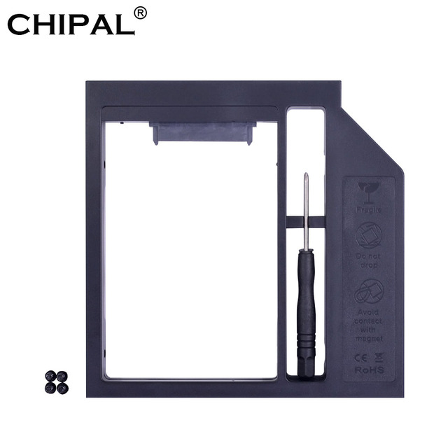 Carcasa de plástico CHIPAL Universal SATA 3,0 2nd HDD Caddy 12,7mm para 2,5 ''2 TB Disco Duro SSD para Notebook CD-ROM DVD-ROM