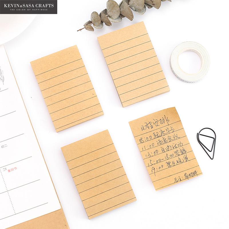 80Pages Kraft Paper Memo Pad Quality Office And School Supplies Stationery Sticker Planner Stickers Sticky Note Notepad