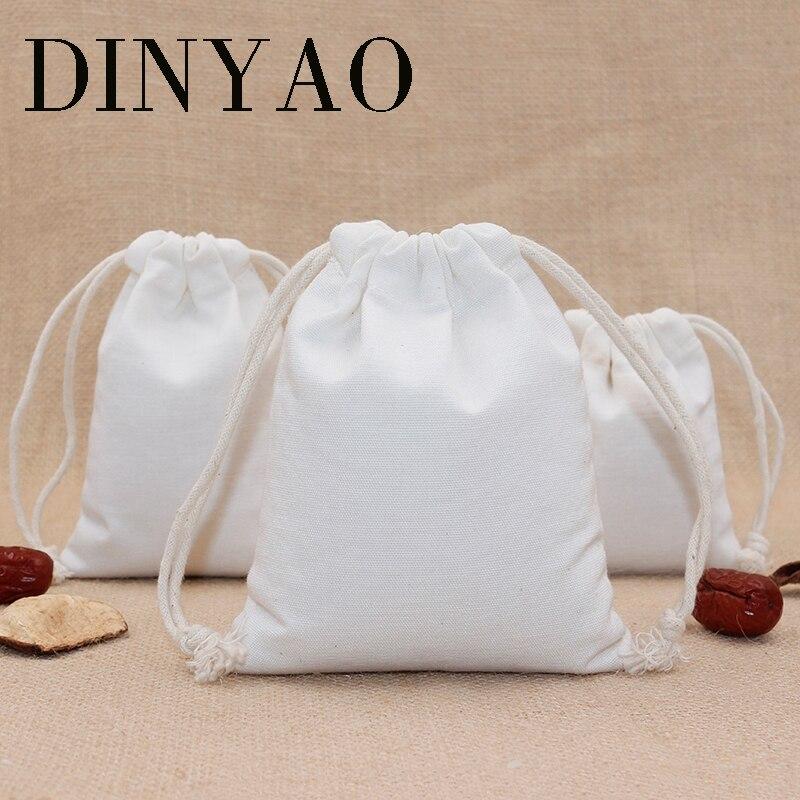 1pcs/lot 24*31cm 10oz Canvas Polyester Bag Pouch Wholesale Logo Print Storage Drawstring White Rice Travel Gift Bags Packing Bag