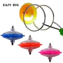 Легко большой волшебный Магнитный гироскоп большой точный мигающий волчок игрушки для детей мальчиков NR0045