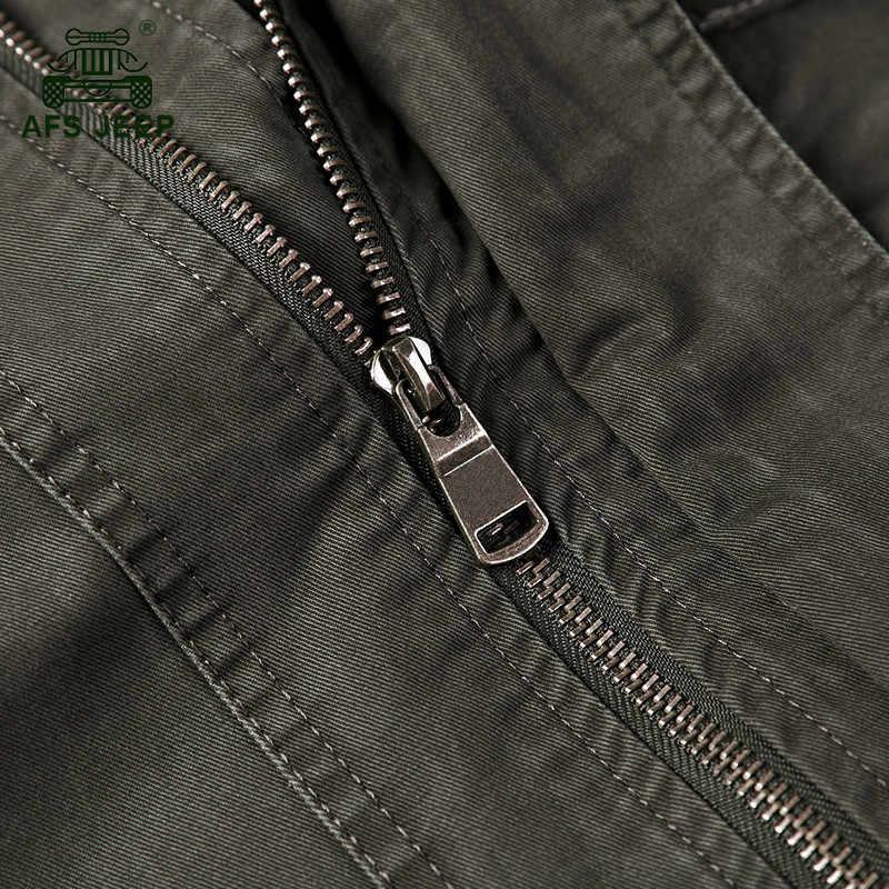 AFS JEEP брендовая военная куртка с капюшоном, пальто для мужчин, 100% хлопок, Осень-зима, повседневная мужская куртка размера плюс M-4XL, Jaqueta masculina