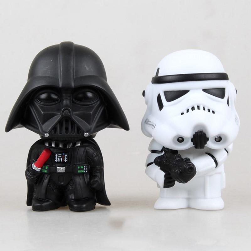 20 pcs/lot 10 cm Star Wars Action Figure La Force Éveille Darth Vader Stormtrooper Modèle Jouet Enfant Cadeau de Livraison gratuite