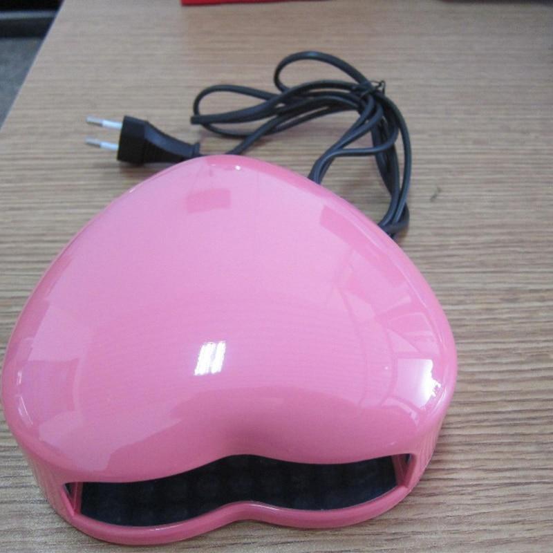 жүрек нысаны UW шамы 3W EU Plug 220V Professional Uv - Маникюр - фото 2