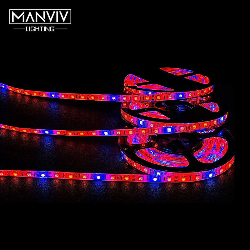 LED Grow Light Strip SMD5050 5 Meters Full Spectrum DC 12V Waterproof IP20 IP65 60LEDs Per Meter For Greenhouse Hydroponic Plant