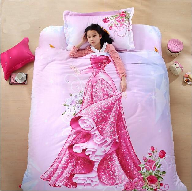 Organic Cotton Brand Designer 3D Bed Linen Cinderella Kids Bedding Set 3D  Comforter Set Girls Anime Bed Sheets Kawaii Bedding In Bedding Sets From  Home ...