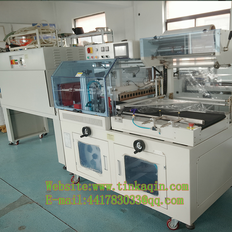 BSF-5545LE+BS-4525High-Speed Sealing And Cutting Machine Plus High-Speed Shrinking Charter Automatic Sealing And Shrinking Mach