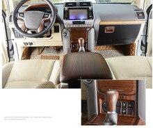 Luxury ABS Wood Chrome 34 pcs For Toyota Land Cruiser PRADO FJ150 2018 Car Interior Cover Trim Frame Decoration Styling