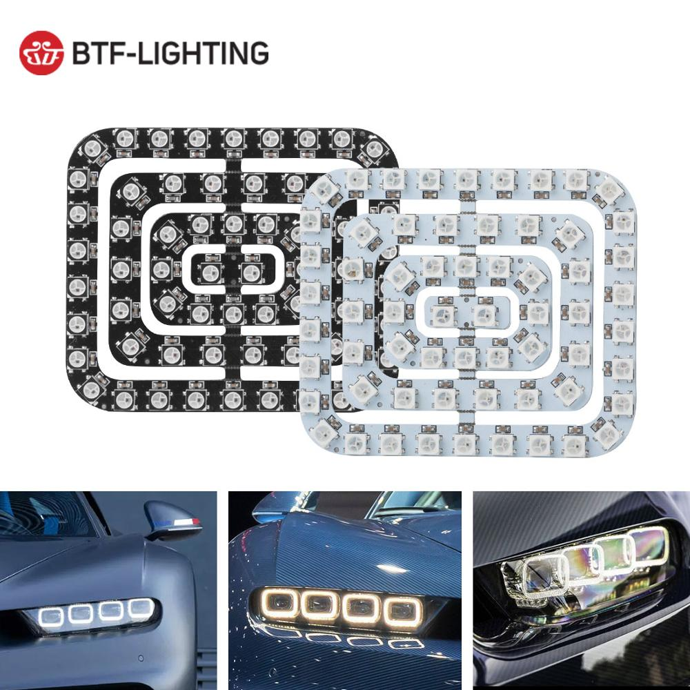 DC5V Car Light 62 LEDs Pixel Panel WS2812B 5050 RGB 64 LED 256 LED Lamp Screen Digital Individually Addressable Full Dream Color