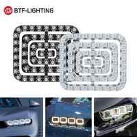 Dc5v carro luz 62 leds pixel painel ws2812b 5050 rgb 64 led 256 led lâmpada tela digital individualmente endereçável cor sonho completo