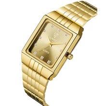 Часы наручные skmei женские кварцевые Роскошные тонкие золотистые