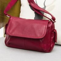 New Vintage Bags Retro Natural Genuine Leather Women Shoulder Bags Travel Bag Hot Sale Ladies Messenger