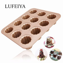 Cannele Mould cake Pan 12 Cup Non-stick Canneles Baking tray Pan Canele muffin Mold wk9158 стоимость