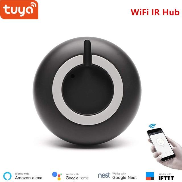 Tuya العالمي الذكية IR محور التحكم عن بعد التحكم الصوتي التيار المتناوب ، التلفزيون ، والعمل مع اليكسا ، جوجل مساعد المنزل ، أبل ، أندرويد الهاتف الذكي