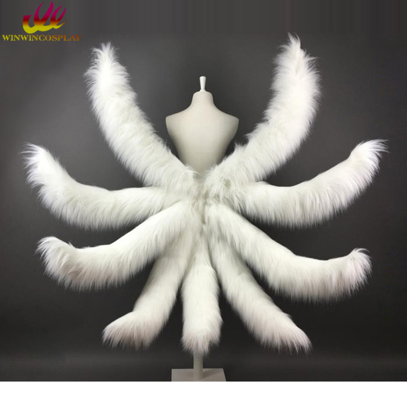LOL Ahri Cosplay Tail Ahri Tail The Nine-Tailed Fox Tail 3 Sizes For Halloween Cosplay Costume