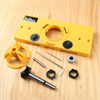 1Set Concealed 35mm Cup Style Hinge Jig Drill Set Guide Door Hole Locator For Diy Tool