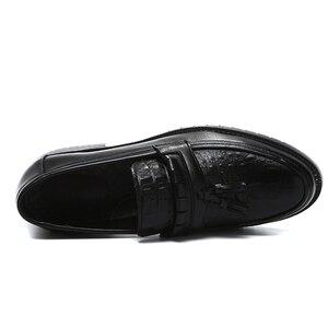 Image 2 - 2020 Men Dress Shoes Formal Shoes Mens Handmade Business Wedding Leather Men Oxfords