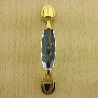 96mm fashion deluxe glass clear /black crystal villadom furniture decoration handle 3.8 gold drawer cabinet wardrobe door pulls 5pcs 40mm clear crystal glass cabinet knob drawer pull handle kitchen door wardrobe decoration